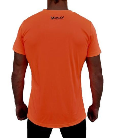 V OCEAN S/S UV PERFORMANCE TOP- FLURO ORANGE Rear