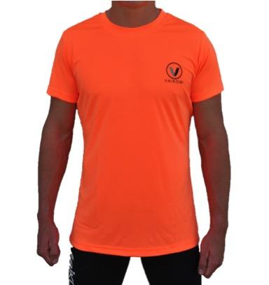 V OCEAN S/S UV PERFORMANCE TOP- FLURO ORANGE