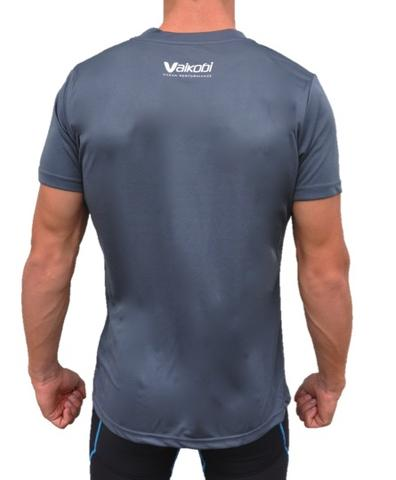 Grey Short Sleeve Shirt Rear View
