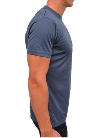 Grey Short Sleeve Shirt Side View