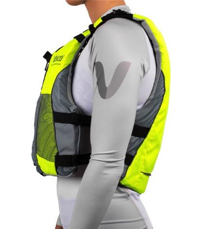 Vaikobi  V3 OCEAN RACING PFD- FLURO YELLOW - GREY - Elite Paddle Gear