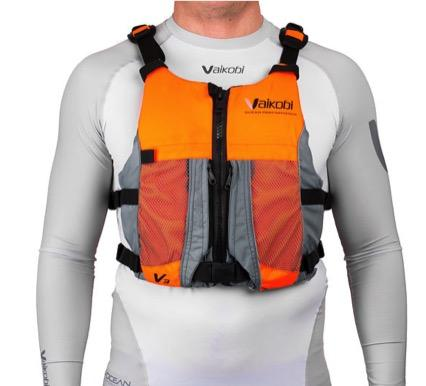 Vaikobi - V3 OCEAN RACING PFD- FLURO ORANGE- GREY Front