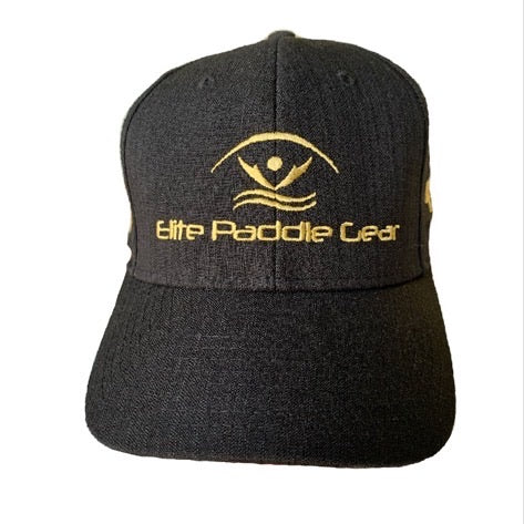 Black Battle Cap front view Elite Paddle Gear Logo