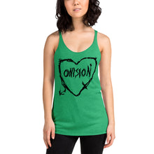 Load image into Gallery viewer, Onision Sketch Heart Women's Racerback Tank