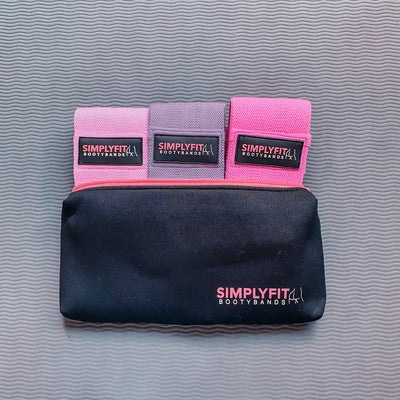 SimplyFit Bootybands (Pink-Purple-Hot Pink)
