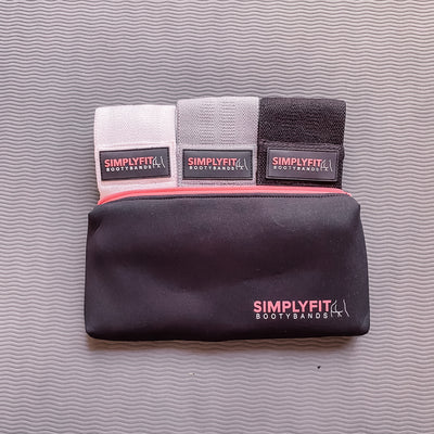SimplyFit Bootybands (White-Gray-Black)