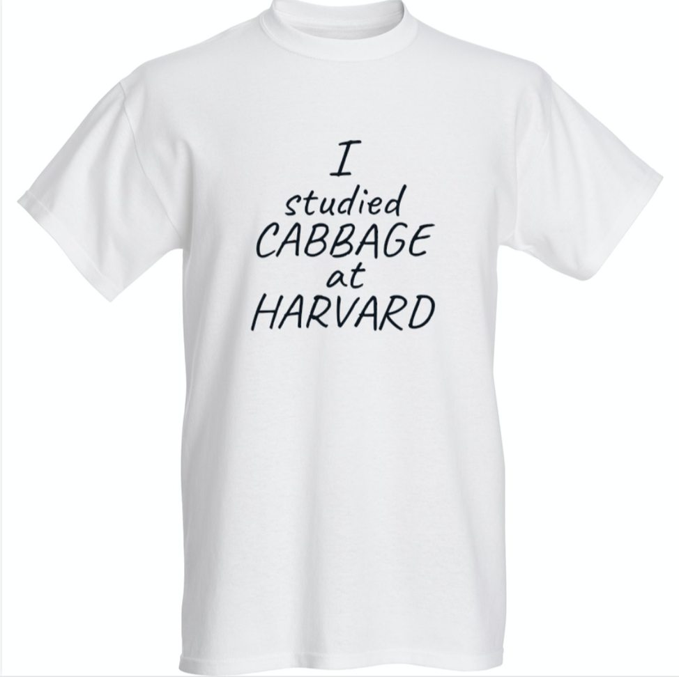 """I studied CABBAGE at HARVARD"" Premium Tee"
