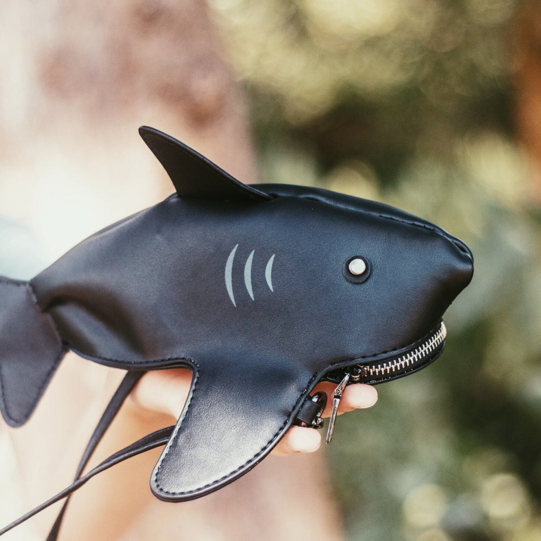 Cute PU Leather Shark Purse