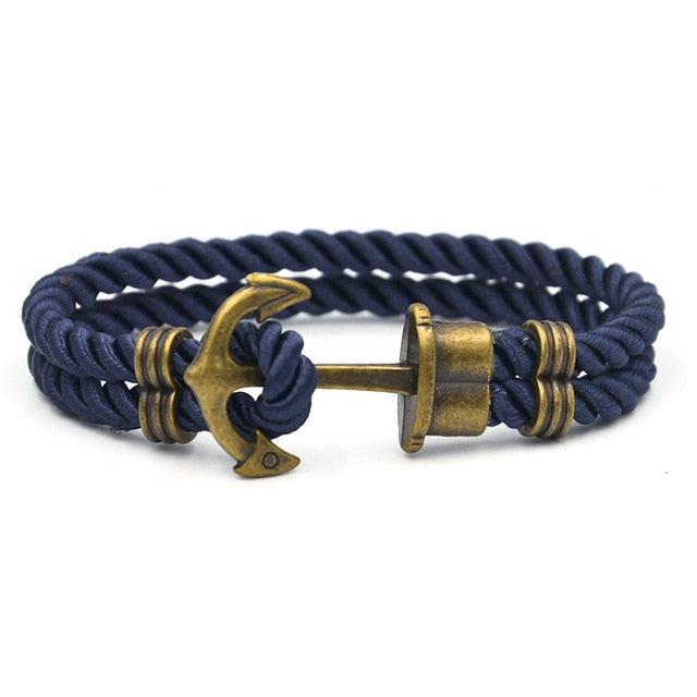 Nylon Rope Anchor Bracelets