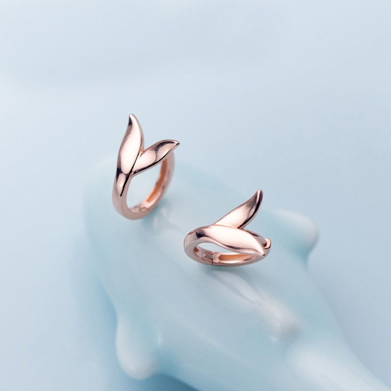 Cute Tiny Mermaid Tail Hoop Earrings