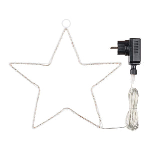Decorazione luminosa stella natale strip led 90 led esterno addobbi natalizi