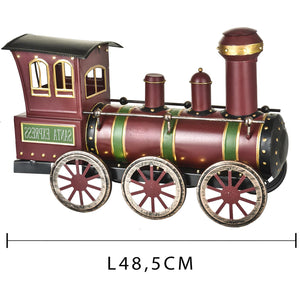 Locomotiva 40 led trenino natalizio in latta 48,50 cm decorazione natalizia