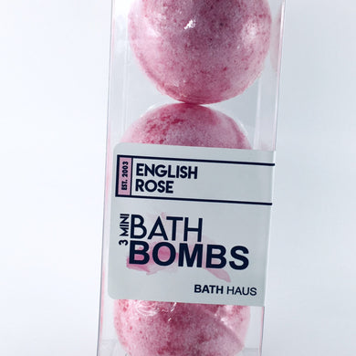 English Rose Bath Bomb 3 Pack - BATH HAUS & CO.