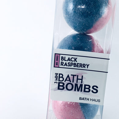 Black Raspberry Bath Bomb 3 Pack - BATH HAUS & CO.