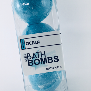 Ocean Bath Bomb 3 Pack - BATH HAUS & CO.