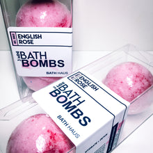 Load image into Gallery viewer, English Rose Bath Bomb 3 Pack - BATH HAUS & CO.