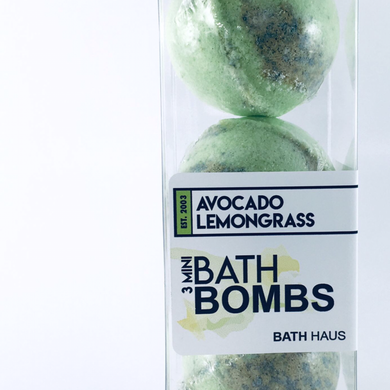 Avocado Lemongrass Bath Bomb 3 Pack - BATH HAUS & CO.