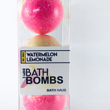 Load image into Gallery viewer, Watermelon Lemonade Bath Bomb 3 Pack - BATH HAUS & CO.