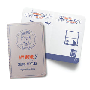 My Home-2 Indoor Guided Sketch Journals - 10 Books