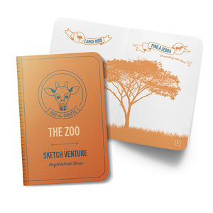 The Zoo Guided Sketch Journals - 10 Books