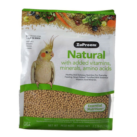 ZuPreem Natural Bird Food for Medium Birds