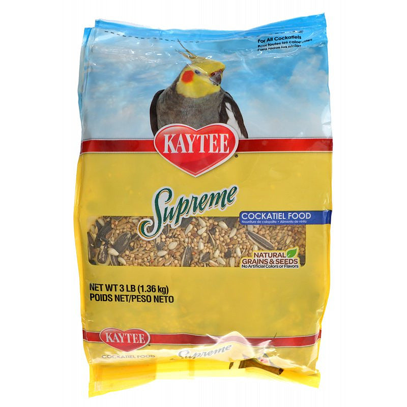 Kaytee Supreme Cockatiel Food Natural Grains & Seeds