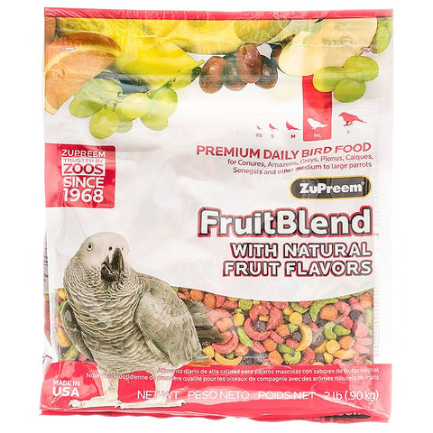 ZuPreem FruitBlend Flavor Bird Food for Parrots & Conures