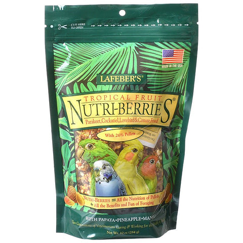 Lafeber Tropical Fruit Nutri-Berries - Parakeet, Cockatiel & Conure Food