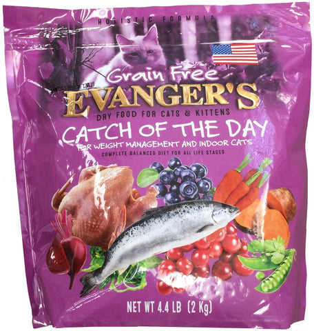 Evangers Catch of The Day for Weight Management and Indoor Cats 4.4 Pounds