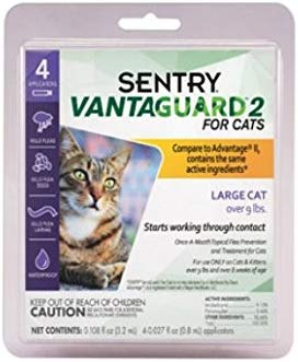 VantaGuard 2 for Large Cats Over 9 lbs Tropical Treatment Clear Fleas and Ticks