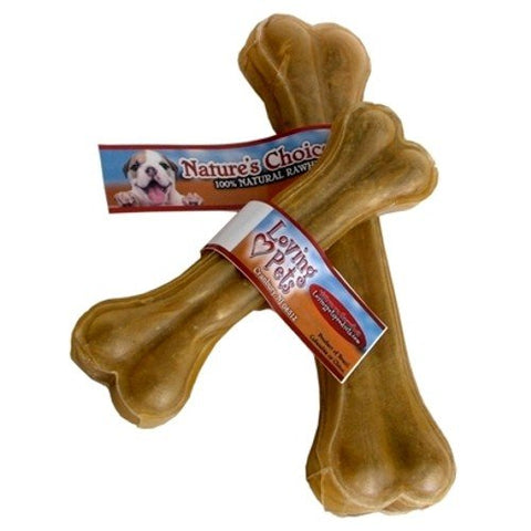 "Loving Pets 10"" Natural Pressed Bone - 10 Count"