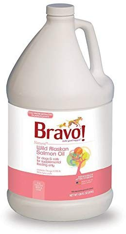 Bravo Wild Alaskan Salmon Oil for Dogs and Cats, 1 Gallon Bottle