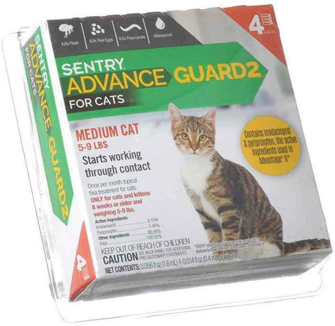 Advance Guard2 Cat Flea/Tick Spot-On 4mo 5-9lb