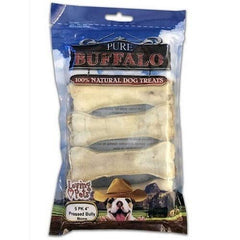 "Pure Buffalo 4"" Pressed Bully Bones - 5 Pack"