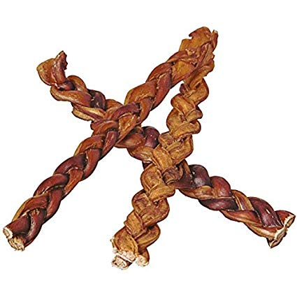 "Pawstruck 12"" Braided Bully Sticks for Dogs - Natural Bulk Dog Dental Treats & Healthy Chews"