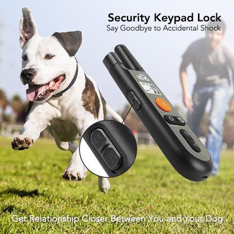 Dog Training Collar - Rechargeable Dog Shock Collar w3 Training Modes, Beep, Vibration and Shock