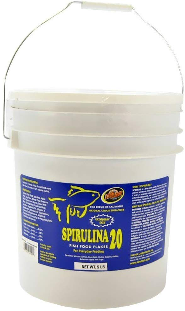 Royal Pet Supplies Inc Zoo Med Spirulina 20 Flake Fish Food
