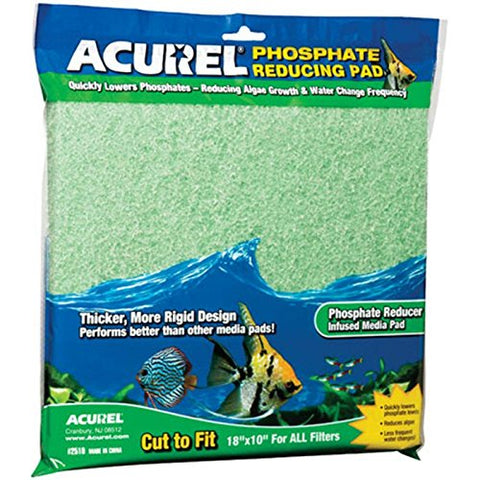 Acurel Phosphate Reducer Infused Media Aquarium Pad - Set of 2