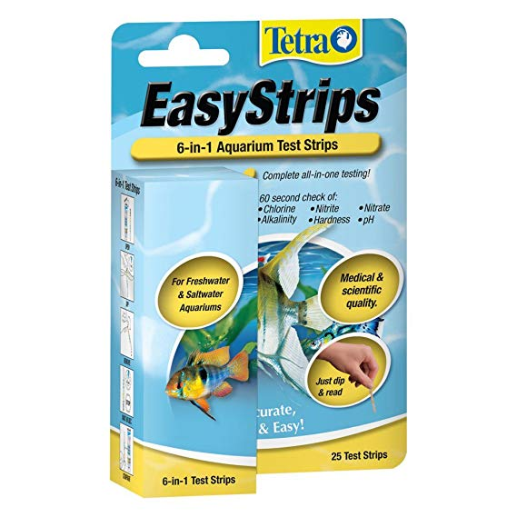 Tetra Pond EasyStrips 6-in-1 Aquarium Test Strips - 25 Count
