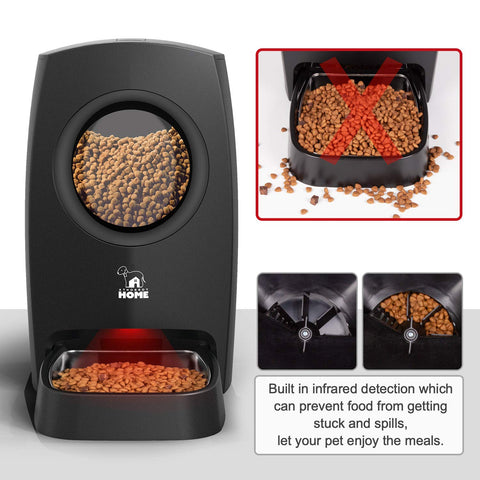HICTOP Automatic Pet Feeder | Auto Cat Dog Timed Programmable Food Dispenser Feeder