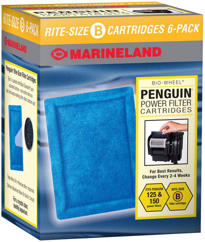 MarineLand Penguin Power Filter Cartridges, Rite-Size B 6-Pack