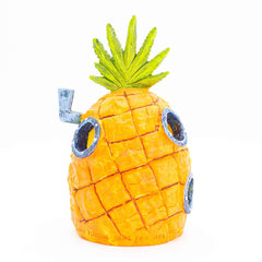"SpongeBob Aquarium Ornament – SpongeBob's Pineapple House - Perfect for Fish to Swim In and Around - Full Color 6"" Decoration"