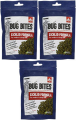 Fluval Bug Bites Cichlid Formula for Medium to Large Fish, 3.5 Ounce, 3 Pack