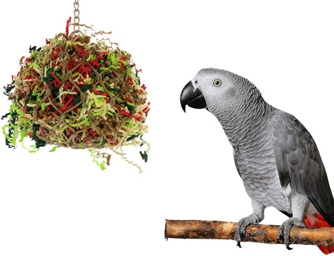 Sweet Feet and Beak Super Shredder Ball - Will Keep Your Bird Busy for Weeks