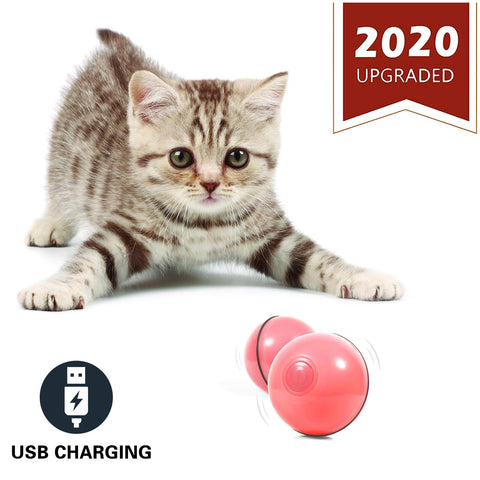 YOFUN Smart Interactive Cat Toy - Newest Version 360 Degree Self Rotating Ball, USB Rechargeable Pet Toy