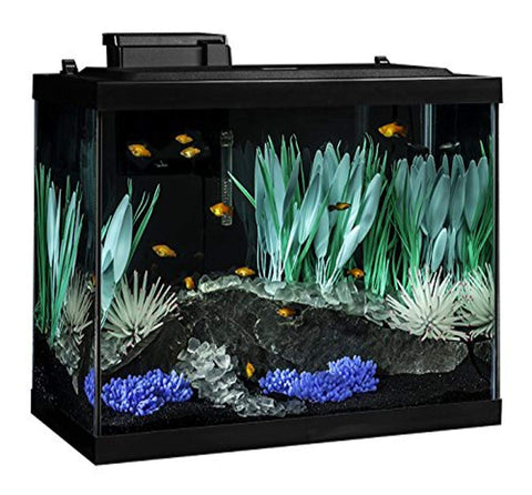 Tetra 20 Gallon Complete Aquarium Kit w filter heater LED & plants