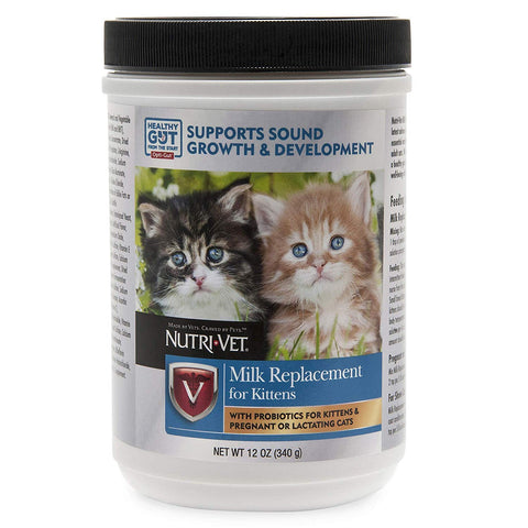 Nutri-Vet Milk Replacement For Kittens with Probiotics, 12-Ounce