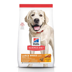 Hill's Science Diet Dry Dog Food, Adult, Large Breeds, Light for Weight Management, Chicken Meal & Barley Recipe