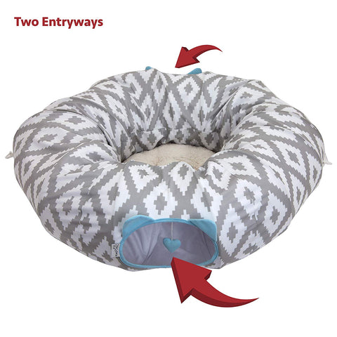 Kitty City Large Cat Tunnel Bed