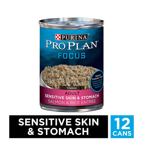 Purina Pro Plan FOCUS Sensitive Skin & Stomach Adult Wet Dog Food